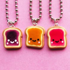 Kawaii Peanut Butter and Jelly Sandwich Necklace  by BabyLovesPink