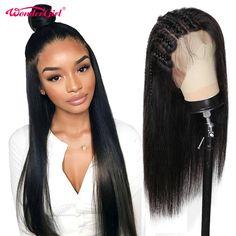 Cheap Wig With Baby Hair, Buy Quality Wig Directly With China Wig Suppliers: Wonder Girl 250 Density 360 Lace Front Wig Preplused Remy Wig Wig… Remy Hair Wigs, Human Hair Wigs, Wig Hairstyles, Straight Hairstyles, Quality Wigs, Cheap Human Hair, Wigs For Sale, Black Wig, Wigs For Black Women