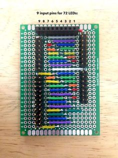 Picture of 9-Charlieplexor (9-pins for 72 LEDs)
