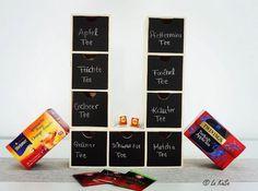Eine super Aufbewahrung für Teebeutel! #lakasa #blog #kreativ #tea #time #tee #diy