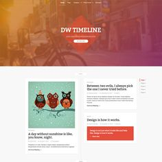 The Colorful Timeline Free Responsive Wordpress Theme is a fully responsive theme that would be perfect for any Wordpress blog. It's colorful enough to draw in your site visitors but elegant enough to keep things simple and organized. So jazz your blog up by downloading this trendy template now!