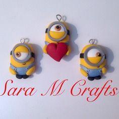 Handmade fimo polymer clay minions cattivissimo me despicable me sara m crafts