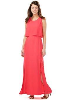 Cato Fashions Double Slit Popover Maxi Dress #CatoFashions