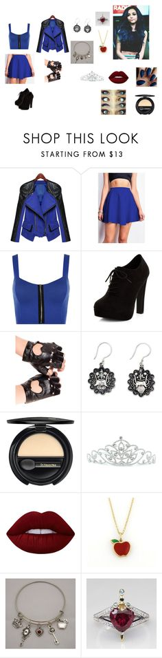 """Evil Queen's Daughter"" by ana25083 ❤ liked on Polyvore featuring WearAll, New Look, NOVICA, Dr.Hauschka, Kate Marie, Lime Crime, Tiffany & Co., Once Upon a Time and Villain"