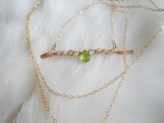 Aquamarine Moonstone and Peridot Necklace by ShopSugarPineDesign