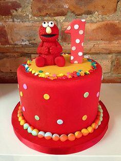 1st birthday Elmo cake