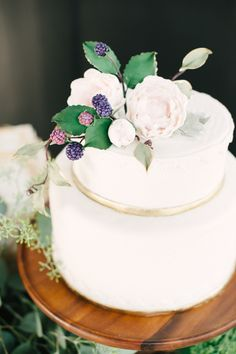beautiful little cake with berry tones