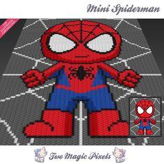Mini Spiderman inspired crochet blanket pattern por TwoMagicPixels