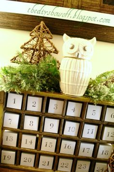 DIY Holiday Highlights Linky Party ~ Empty Fireplace Card Holder and Vintage Soda Crate Advent Calendar | | DIY Show Off ™ - DIY Decorating and Home Improvement BlogDIY Show Off ™ – DIY Decorating and Home Improvement Blog