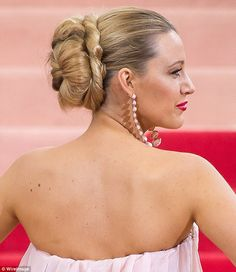 The Look: Grecian Goddess... Blake was the belle of this year's Met Ball. The twisted chignon created by Rod can best be described as epic.  In conceptualizing the look, the hair master looked to ancient Greece and iconic images and stars of the '60s and '70s.