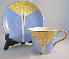 Vintage Art Deco Gladstone China G.P. & Co. Tea Cup & Saucer C.1924-1940