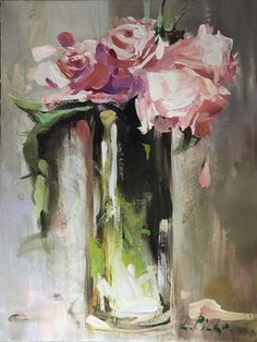 Oil Painting Flowers, Abstract Flowers, Art Oil, Painting Inspiration, Art Lessons, Flower Art, Amazing Art, Watercolor Art, Art Projects