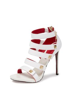 Leather Stud Strappy Sandal
