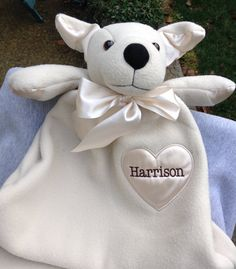 Personalized elephant baby blankie 15549 personalized baby gifts monogrammed baby gift personalized security blanket dog by worldclassembroidery on etsy 3999 negle Images