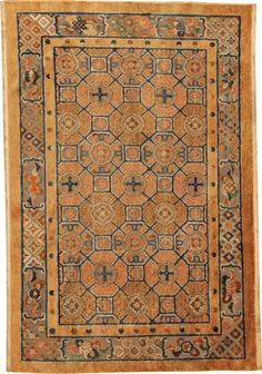 Antique Silk Chinese Oriental Rug with Metallic Threading #44478  http://nazmiyalantiquerugs.com/antique-rugs/chinese/