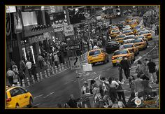 Yellow Cabs. Times Sq.