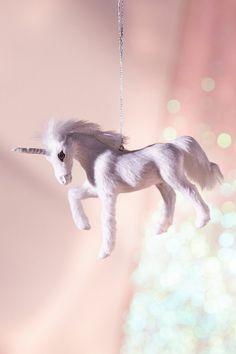 Urban Outfitters Plush Unicorn Christmas Ornament