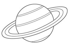 Coloring Pages of Saturn