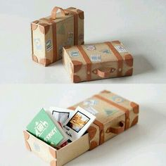 tiny diy matchbox suitcases