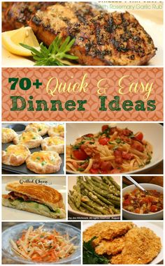 Meal Planning and Quick Dinner Ideas! 70 easy dinner recipes to choose from Quick Easy Meals, Easy Dinner Recipes, Dinner Ideas, Easy Recipes, Simple Meals For Two, Quick Meals For Dinner, Easy Dinners, Amazing Recipes, Pork Recipes
