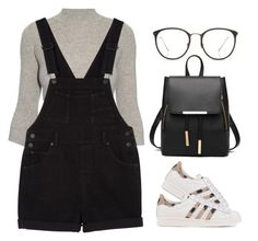 """""""Street Style"""" by maevaxstyle ❤ liked on Polyvore featuring Alexander McQueen, Monki, Linda Farrow and adidas Originals"""