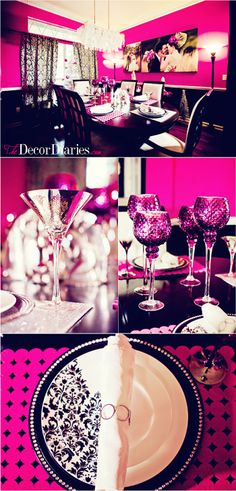 My hot pink dining room at The Decor Diaries By Scarlett Lillian