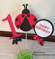 Adorno de torta de Mariquita cumpleaños fiesta por LittleMichaels
