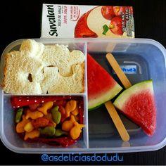 Melancia + gold fish + sanduiche + suco
