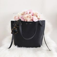 Fresh blooms and a new bag! @thepinkdiary