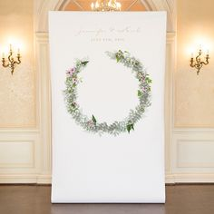 Love Wreath Personalized Premium Canvas Backdrop - WEDDINGS Party Supplies and Decorations at Discount Prices. PartyStock is your Canadian source for party ideas, party supplies, and decorations!