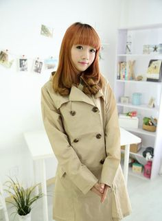 Hunter Double-Breasted Trench Coat   Women Raincoats & Trench ...