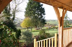Ashridge Organic Farm, Devon. The accommodation was converted using natural materials where possible, including oak timber flooring, sheep's wool insulation and water based paints. Heating is provided by an environmental award winning wood pellet burning system http://www.organicholidays.co.uk/at/759.htm