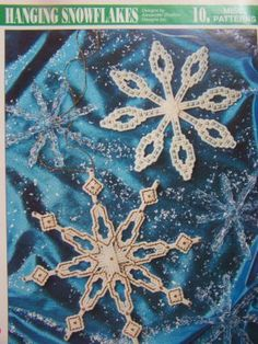 Plastic Canvas Patterns Hanging Snowflake Christmas Tree Ornaments Craft Decoration Pattern