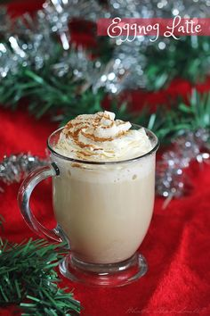 Eggnog Latte Recipe - Easy and delicious this eggnog latte is the perfect coffee house style drink for the holidays, and it is simple to make at home. #NinjaBarista #IC AD