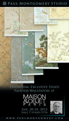Paul Montgomery Studio - beautiful hand painted wallpapers.