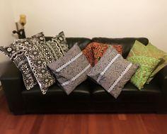One off sets of Samoan Print hand made cushions