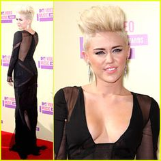 Celebrity hairstyles always lead the way in setting new hairstyle trends. If you want to be on the cutting edge of style, don't miss this. Miley Cyrus high pompadour hairstyle
