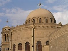 The Church of St. George in Coptic Cairo is the principal Greek Orthodox church of Egypt. It is built atop an old Roman tower and adjoins the Monastery of St. George.
