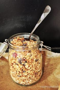 granola-hazilag Granola, Healthy Cake, Healthy Recipes, Homemade Detergent, Homemade Bagels, Clean Eating, Food Porn, Food And Drink, Snacks