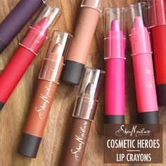 Our Lip Crayons are part of our standout #SheaMoistureCosmetics: Cosmetic Heroes. The statement-making color glides on smoothly and lasts all day, perfect as the final touch for your personalized look. Acting as a liner and lipstick in one! Our Lip Crayons are made with natural, lip-nourishing ingredients. Shea Butter enriched to soften and hydrate lips, leaving them supple and kissable. Find the selection of bold and beautiful shades at select Target stores and…