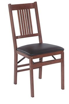 This True Mission Style chair with 6 vertical slats coming down from a horizontal top rail with a shaped curve in the top and bottom rail back are the perfect extra seating alternative for your home. The chairs are constructed of solid hardwoods with a steel folding mechanism and padded... more details available at https://furniture.bestselleroutlets.com/game-recreation-room-furniture/folding-tables-chairs/product-review-for-stakmore-true-mission-folding-chair-finish-set-of-2