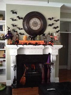 Halloween mantle