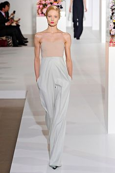 Such tailored precision in a jumpsuit look...Raf Simons x Jil Sander A/W 12-13