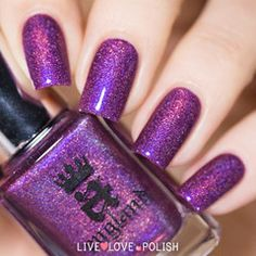 Swatch of A-England Crown of Thistles Nail Polish