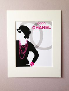 Coco Chanel Digital Illustration by ClickOfAMouseDesigns on Etsy