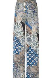 EtroPrinted silk crepe de chine wide-leg pants