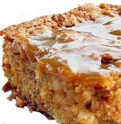Recette: Gâteau aux pommes etcaramel. 