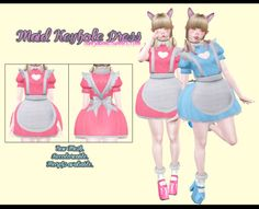 """iamzauma:  """" TS3 MAID KEYHOLE DRESS • Sims 4 version also avaliable to download.  • Download & details here!  """""""