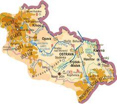 Moravskoslezský kraj Diagram, Map, World, The World, Maps, Peta, Peace, Earth