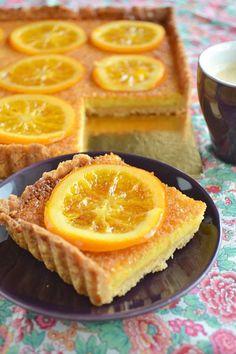 recipe easy fast-pie-orange-almond cream Source by esthermaco Tarte Orange, Sweet Recipes, Cake Recipes, Candied Orange Slices, Orange Dessert, French Desserts, Fondant Cakes, Desert Recipes, Dessert Bars